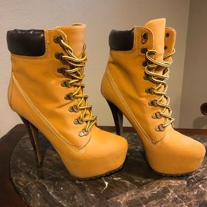 Super Cute Timberland Inspired Heel Boots for Fall